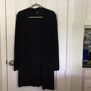 Ann Taylor black cardigan Midcalf cardigan